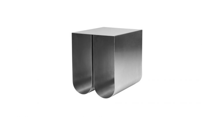 Kristina Dam Curved Side Table Stainless Steel Dopo Domani - Small Black Metal Rectangle Side Table