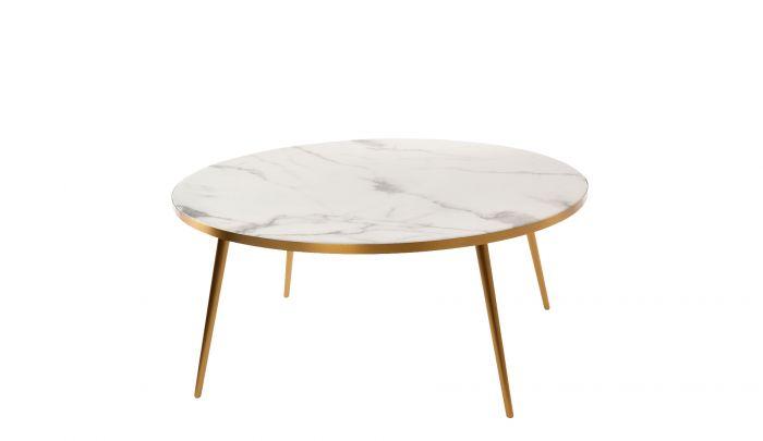 Pols Potten Coffee Table Marble Look White Dopo Domani