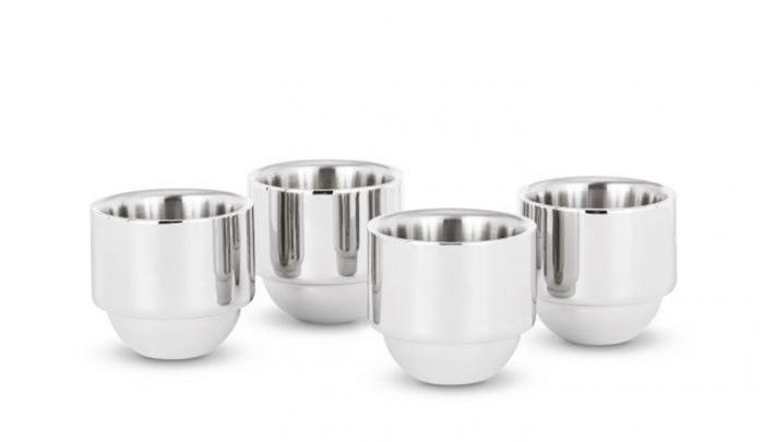 tom dixon brew espresso cups set of 4 stainless steel